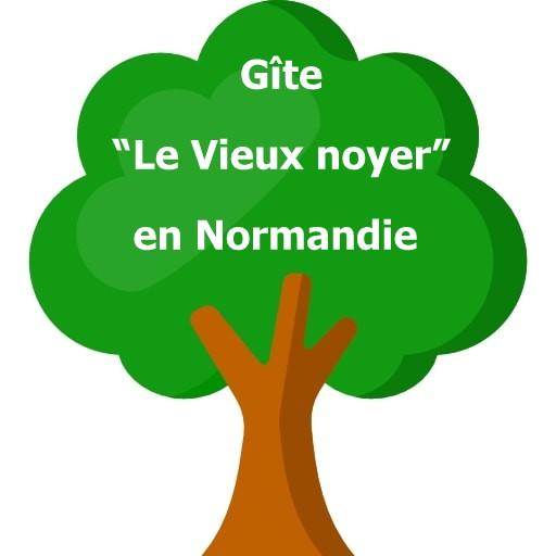 """Le gite """"Le vieux noyer"""" en Normandie, est proche des plages du débarquement de 1944, de Sainte-Mère-Eglise et du Mont Saint Michel."""